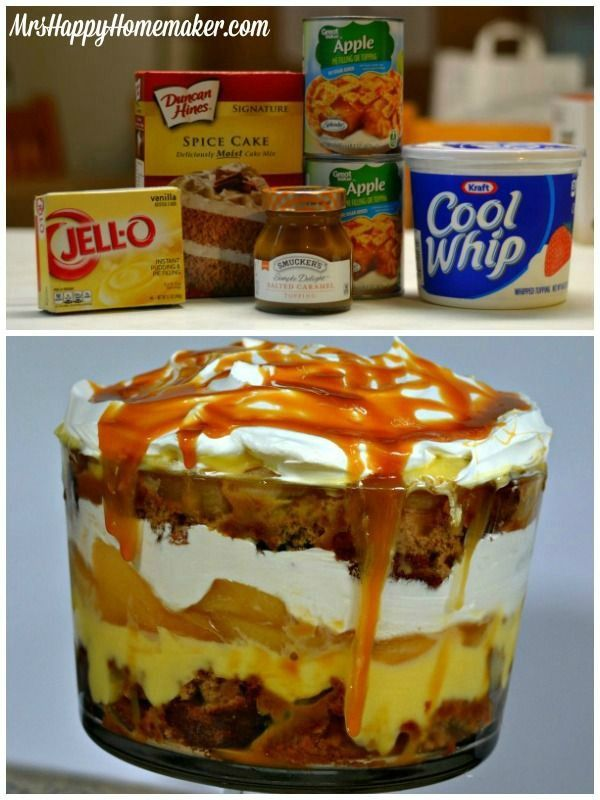 You won't believe how darn EASY this Caramel Apple Trifle is. It's so delicious you may not wanna share.... ;)