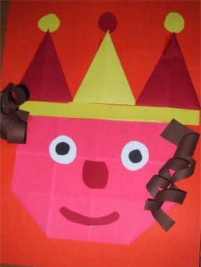 Koninginnedag knutselen - Juf Sanne prins/prinses vouwen