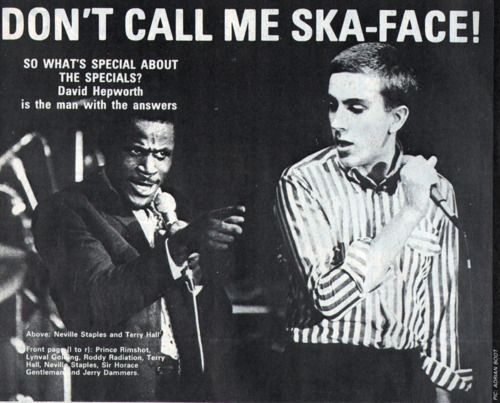 The Specials: Neville Staple and Terry Hall, 1979.