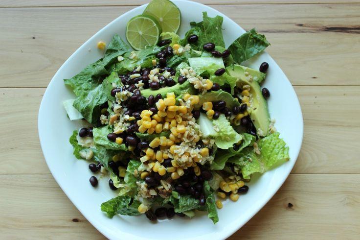 Santa Fe Salad with Peanut Lime Vinaigrette - #Vegan & #GlutenFreeSalad Vegan, Gluten Free Vegan, Vinaigrette Vegan, Santa Fe Salad, Celiac Disease Gluten, Peanut Limes, Disease Gluten Free, Glutenfree, Limes Vinaigrette