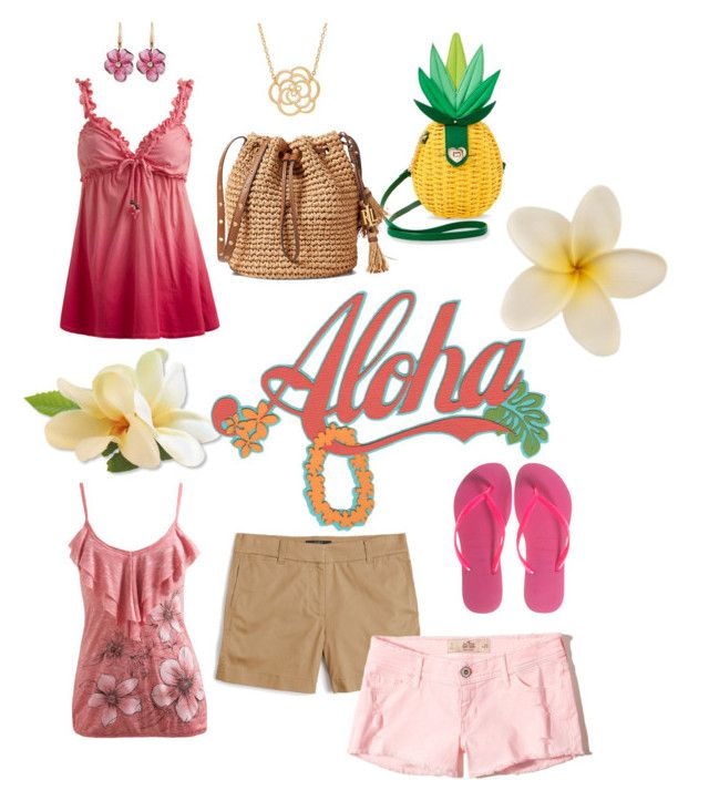 """""""Hawaii 🌺 Summer"""" by celticsuzi1020 on Polyvore featuring Wet Seal, Havaianas, J.Crew, Hollister Co., Betsey Johnson, Rina Limor and Lord & Taylor"""