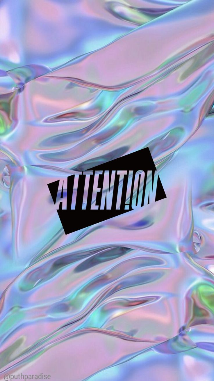 Charlie Puth - Attention | Phone wallpaper (holo)