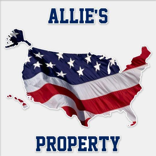 American Flag Map Personalized Property Sticker | Zazzle com