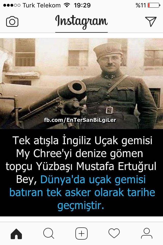 Mustafa Ertuğrul Aker(1892,Hanya- 1961,Girit,Antalya)  Dünya askeri tarihinde ilk defa olarak biruçak gemisi(Seaplane tender) batıran Türk subayıdır ve bu gemiyi karadan dağ topu ile batırmıştır.
