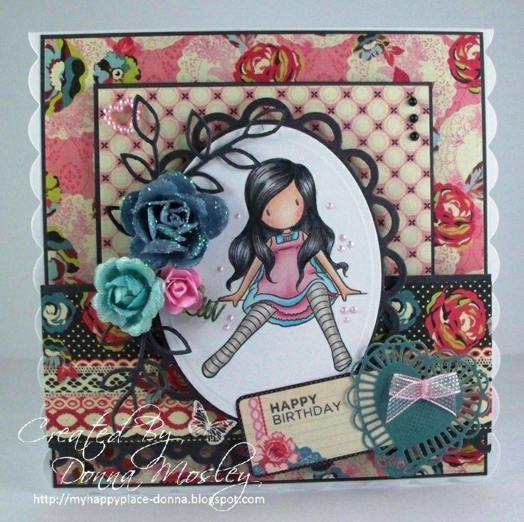 Gorjuss Girl Card En la cima del mundo.