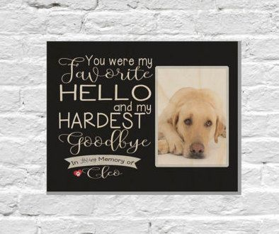 Pet Memorial Frame Pet Loss Gifts Dog Sympathy Pet Memorial