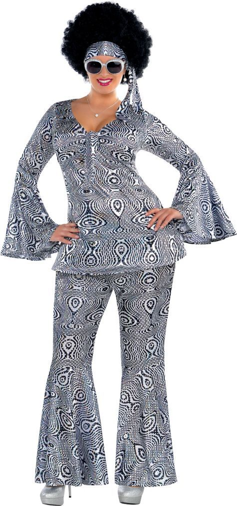 Adult Dancing Queen Disco Costume Plus Size - Party City--Maybe I should go as a disco queen for Halloween 2014 since I already own a big afro wig.