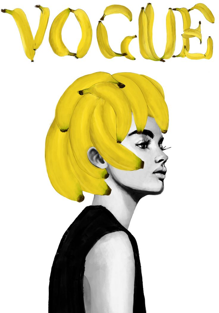 Bananas Vogue av Peytil - Posters för dina väggar från Gallerix®