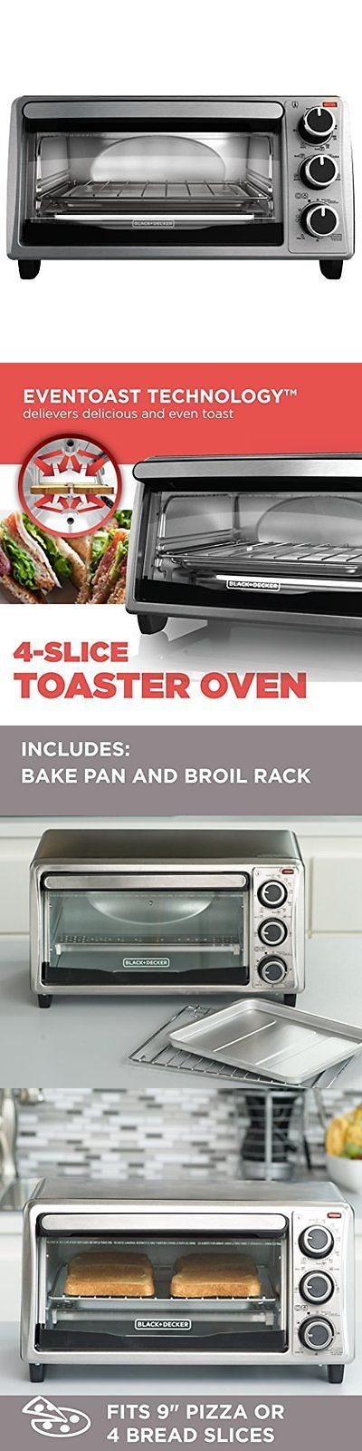 Toaster Ovens 122930: 4-Slice Toaster Oven Electric Countertop Toast Bake Broil Pizza Cook Kitchen New -> BUY IT NOW ONLY: $30.08 on eBay!