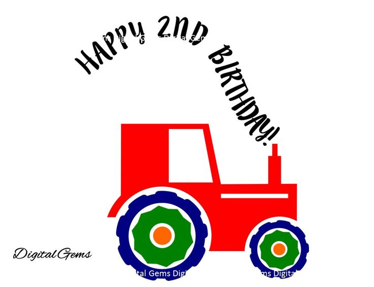 On Sale 50% Off! Happy 2nd Birthday Boy Tractor, SVG Cutting File For Cricut Design Space, Instant Download, Small Commercial Use OK by DigitalGems on Etsy