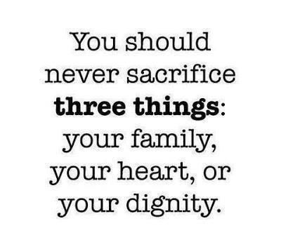 No sacrifice.