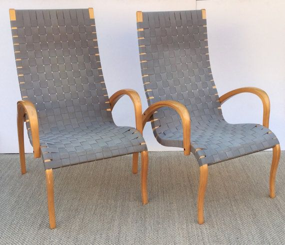 Pair of Asko chairs . Made in Finland and designed by Fatoljer