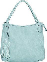 Τσάντα ώμου με διπλά λουριά σε σχέδιο πλεξούδα WK9990.A673+1