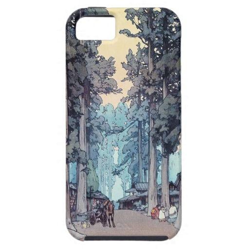 SOLD Japanese classic Hiroshi Tada forest shin hanga art iPhone 5 Case