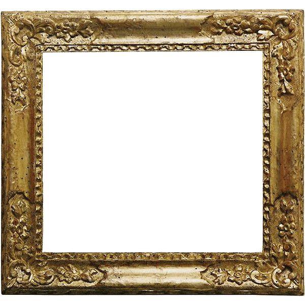 gold frame ❤ liked on Polyvore