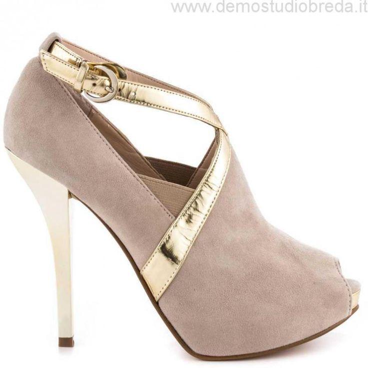 Donne Guess Footwear Ethania - Lt Natural Suede Tacchi Alti Scarpe Taglia:36,37,38,39,40