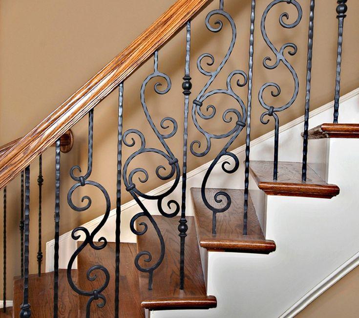 Кованые балясины лестниц картинки