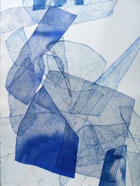 Eben Goff - Batholith Etching, Monoprint #B-9