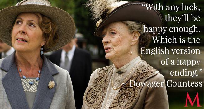 Penelope Wilton and Maggie Smith   Downton Abbey ...