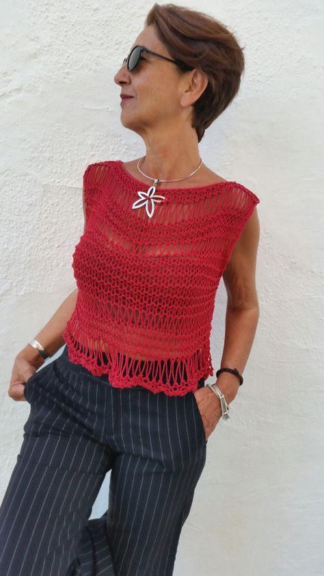 Roten Trikot Punkt, Verdeckstoff Baumwolle, Trikot, kurze Sommer, Trikot Baumwolle rot, roten oberen Punkt, durchbrochene Jersey, Punkt des Sommers,