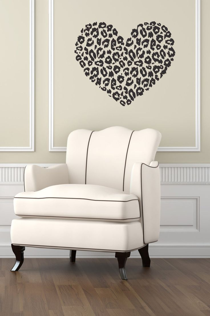 Cheetah bedroom decor - Heart Wall Decals Animal Dog Paws Decal Pet Shop Veterinary Design Living Room Kids Window Home Decor Vinyl Stickers Removable J886