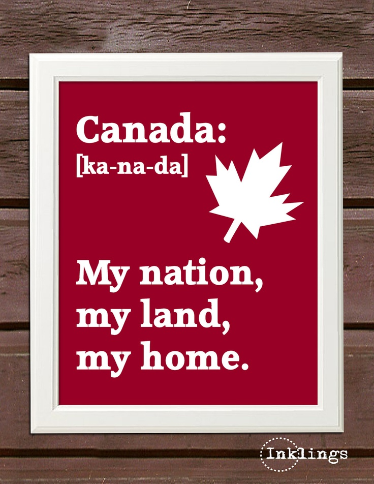 "SALE - 8""x10"" Printable / Digital Poster 'Canada Day' - Choose your color - in PDF  JPG. $3.00, via Inklings Posters Etsy."
