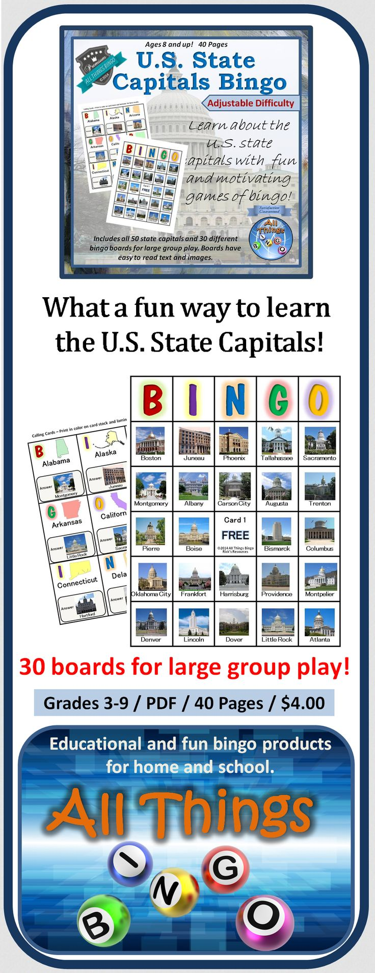 Fun Games for Learning the 50 States | 4th Grade ...