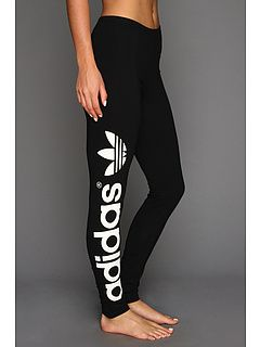 adidas Originals Trefoil Legging Black/White - Zappos.com Free Shipping BOTH Ways