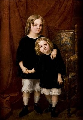 "Jan Matejko ""Portrat of Zdzisław and Bolesława Wlodkow as children"" 1862"