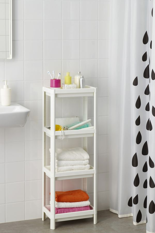 VESKEN Shelf Unit, White. Toothbrush StorageIkea UsaBathroom DesignsBathroom  ...