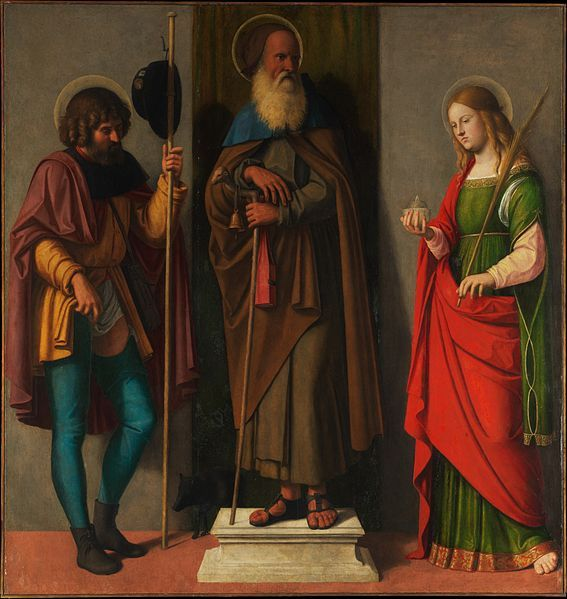 File:Three saints Roch Anthony Abbot and Lucy by Cima da Conegliano.jpg - Wikimedia Commons