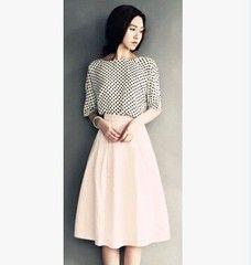 2014 весной новый ретро отлично Yabo указывает рукавом талии юбки розовый зонтик частей установлены платье бюст