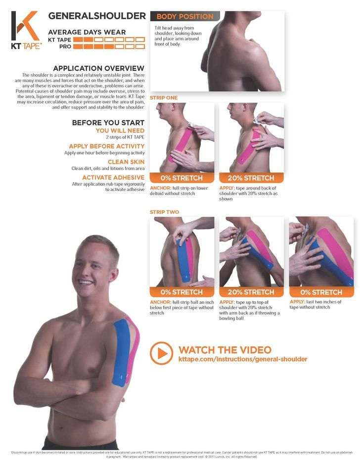 how to kt tape shoulder rotator cuff