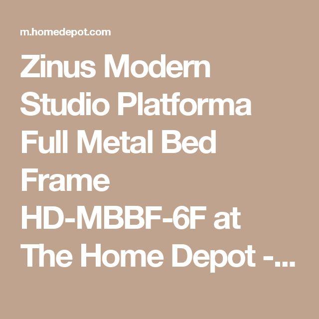 Zinus Modern Studio Platforma Full Metal Bed Frame HD-MBBF-6F at The Home Depot - Mobile
