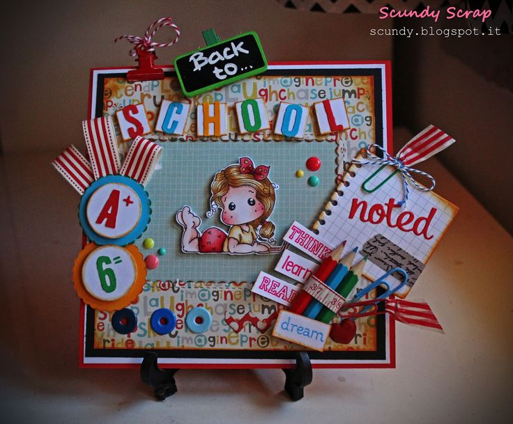 Scundy Scrap and Handmade: HFC Challenge #6 - Back to school