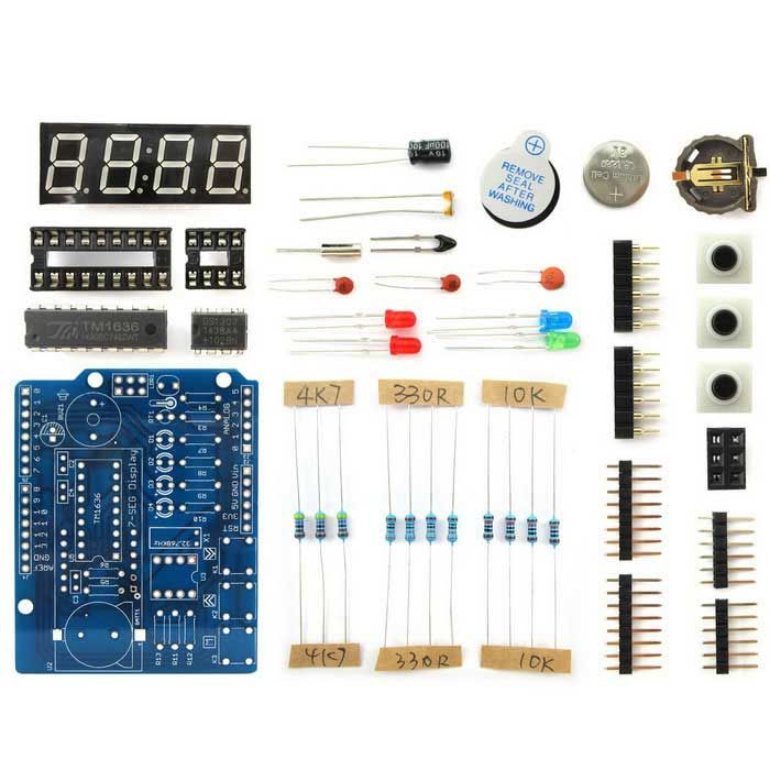 Clock shield kit rtc display expansion board w light