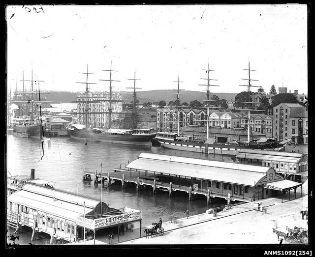Circular Quay, Sydney Harbour. January 1892 (ve) | Flickr - Photo Sharing!