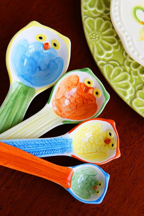 Owl Measuring Spoons - Pier One: Kitchen Theme, Owl Measuring, Spoons Bird, Owl Kitchen, Measuring Spoons Need, Measuring Spoons Love, Measuring Cups, Owl Spoons