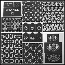 Lot of 19 Cake stencils designers MK Louis Vuitton Chanel Coach ... LIMITED TIME