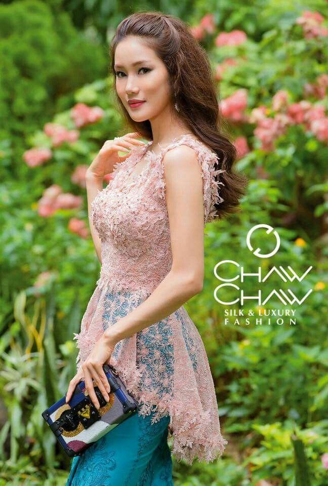 Lace, Modern Myanmar fashion, Awn Seng, designer chaw chaw #modernmeetsmyanmar