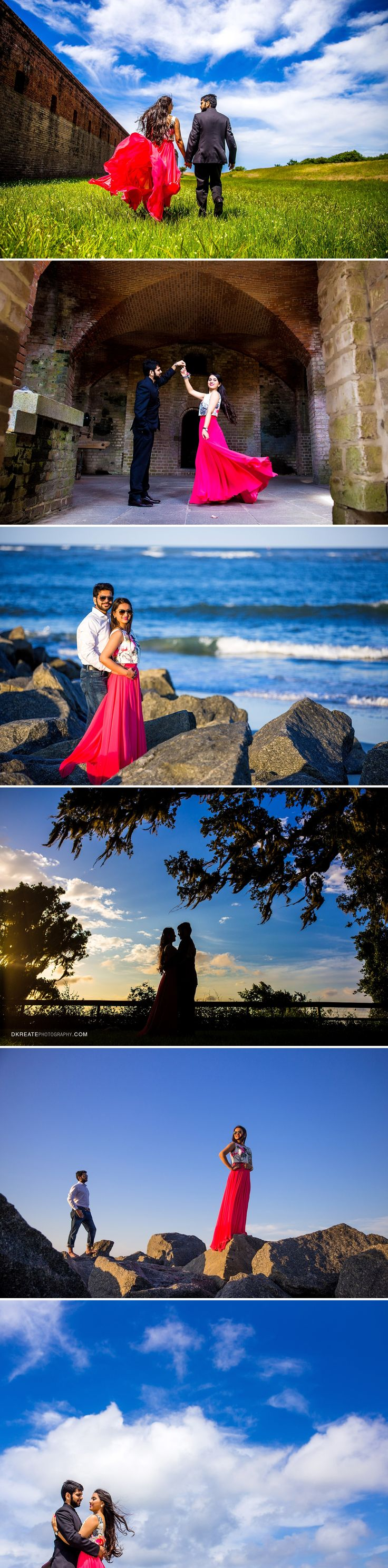 Jacksonville Top Creative Engagement Photos at Fort and Beach