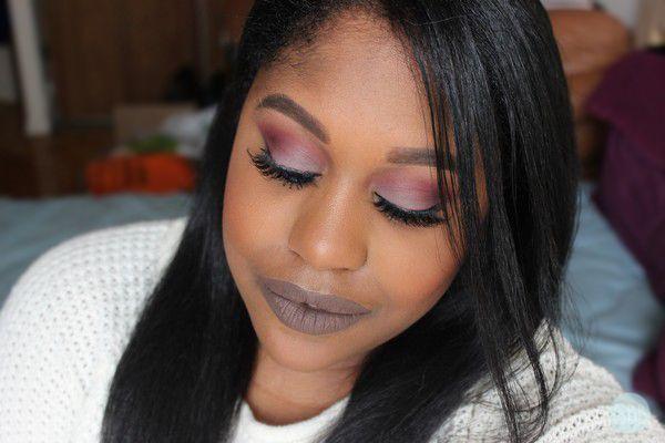 Sheer Beauty: Purple Eyes With Pop Of Blue