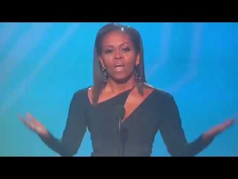 MICHELLE OBAMA GETS STANDING OVATION FROM SPORTS ATHLETES AT #ESPYS #AWARDS #2017ESPYS