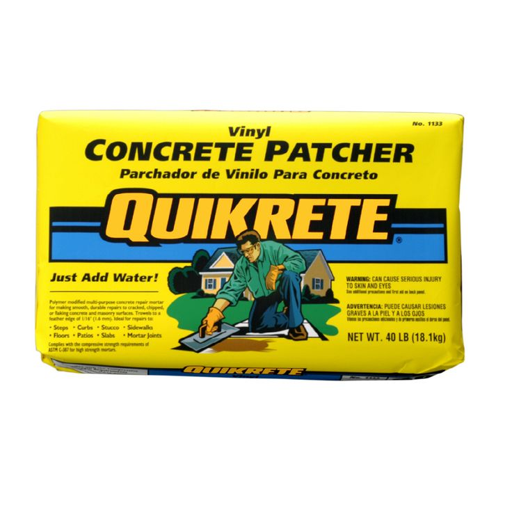 Quikrete 40 Lbs Vinyl Concrete Patcher Lowes Com Concrete Vinyl Mix Concrete