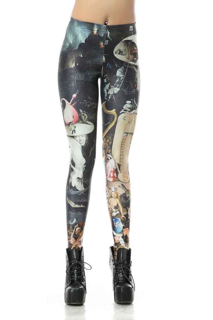 Sunzel Women'S Fashion Digital Print Design Graphic Stretchy Leggings