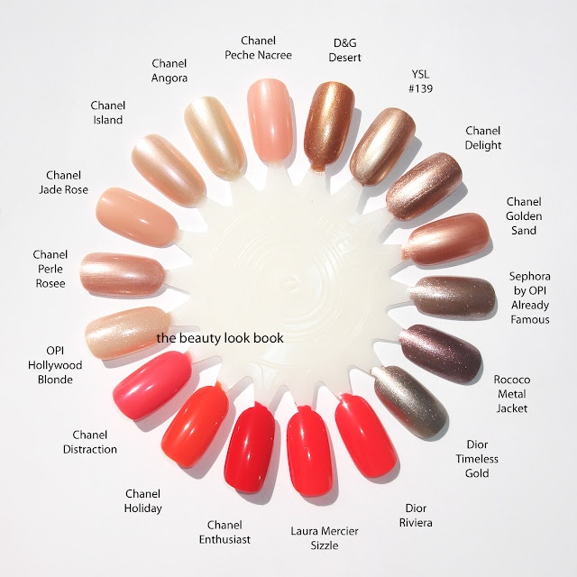 This nail color wheel makes me so happy!