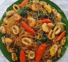 Resep masakan bihun goreng seafood buatan rumah yang enak banget,