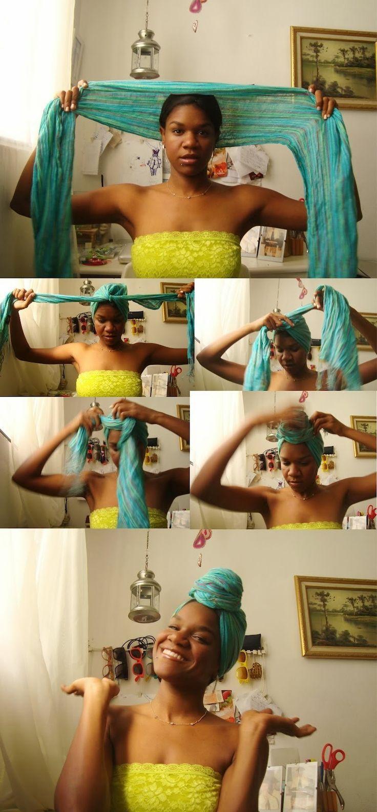 Hair CHALLENGES: Idées coiffures cheveux crépus: Attaché foulard aka Headwrap