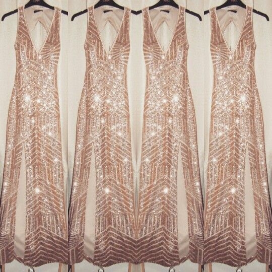 90fff615e76a Totally in love with my sparkly dress for new years eve *Rose gold sequin  dress from Quiz Clothing* | It's time to PARTAY! | Wedding dresses,  Bridesmaid ...