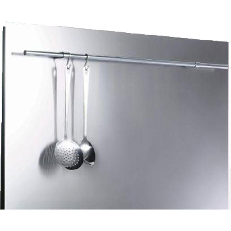 SBK110R_SS | Metal Splashback | 110cm | ao.com